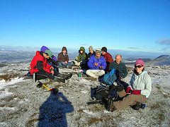 Lunch on the Summit. Credit: Chris Poad