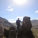 High up on Flying Buttress