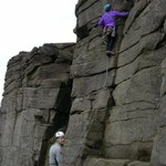 That\'s better, on Small Crack (VD), Stanage