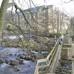 The mill at Bamford on our walk