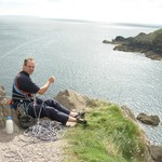 Belaying on top of Porth Clais